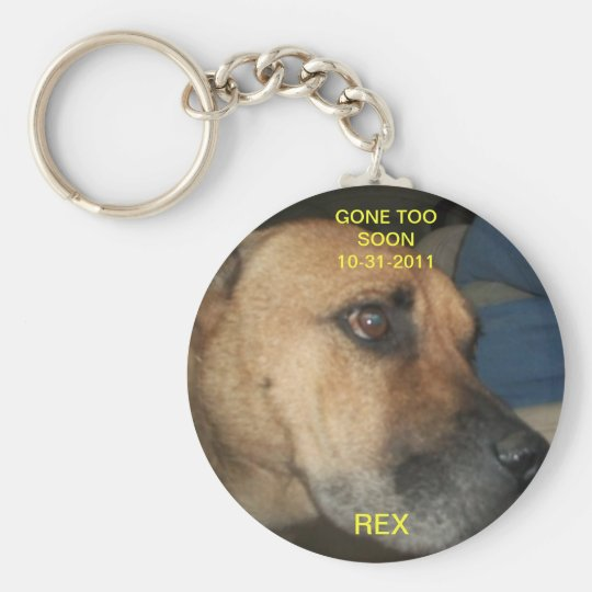 Gone too soon key ring