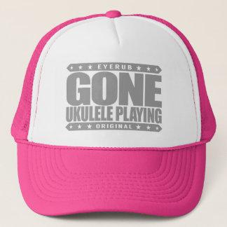 GONE UKULELE PLAYING - Love Hawaiian Music & Songs Trucker Hat