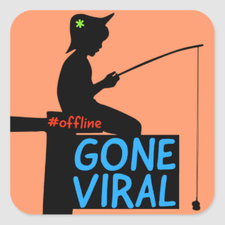 GONE VIRAL SQUARE STICKER