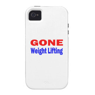 Gone Weight Lifting. Case-Mate iPhone 4 Case