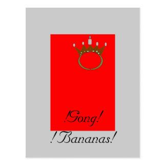 Gong bananas post cards