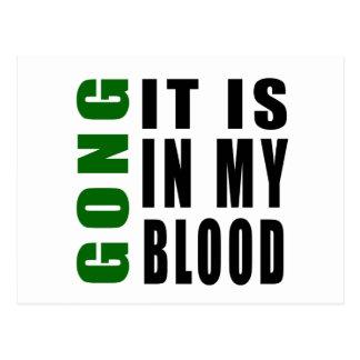 Gong It Is In My Blood Postcard