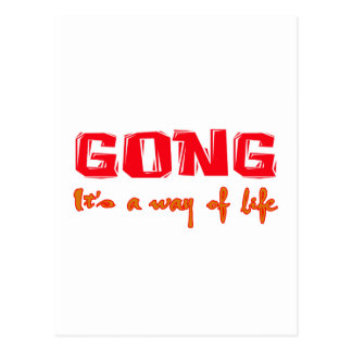 Gong It's a way of life Postcard