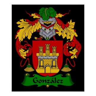Gonzalez Coat of Arms Heraldic Print
