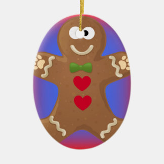 Goo Goo Eyes Gingerbread Man Christmas Ornament