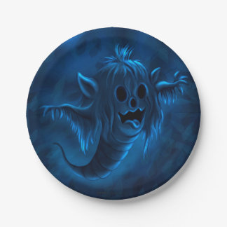 GOO HALLOWEEN MONSTER PAPER PLATE 7 inches