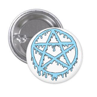 Goo Pentacle Pin - Blue