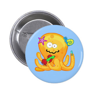 Goober Octopus & Friends Button