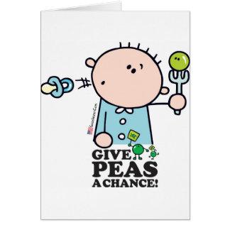 GoochiCoo - Give Peas A Chance Card