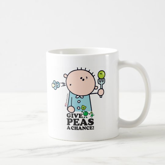 GoochiCoo - Give Peas A Chance Coffee Mug