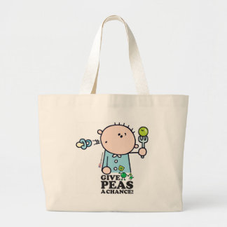 GoochiCoo - Give Peas A Chance Large Tote Bag