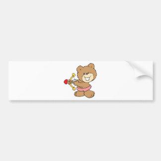 good aim winking cupid teddy bear design bumper sticker