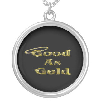 Good as Gold Round Pendant Necklace