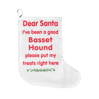 good Basset Hound Large Christmas Stocking