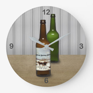 Good Beer Takes Time Large Clock