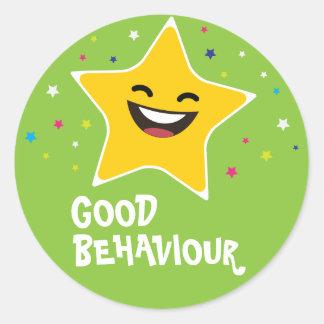 Good behaviour educational classic round sticker