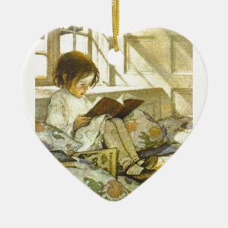 Good Book! Ceramic Heart Decoration