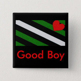 Good Boy 15 Cm Square Badge