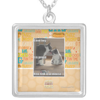 Good boy silver plated necklace