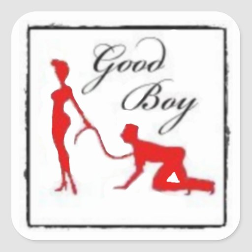Good Boy Square Stickers