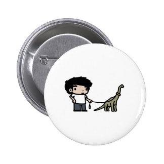 Good Brachiosaurus 6 Cm Round Badge