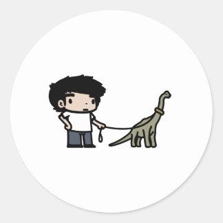 Good Brachiosaurus Round Sticker