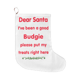 good budgie large christmas stocking
