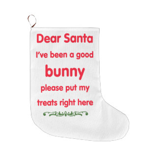 good bunny large christmas stocking