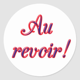 Good Bye Classic Round Sticker