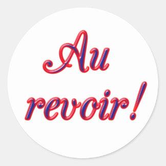 Good Bye Round Sticker