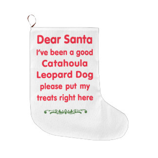 good Catahoula Leopard Dog Large Christmas Stocking