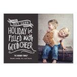 Good Cheer Holiday Photo Card - Editable Colour 13 Cm X 18 Cm Invitation Card