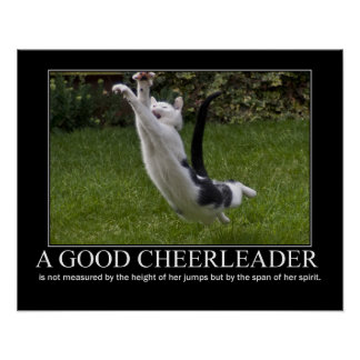 Good Cheerleader Cat Artwork Poster
