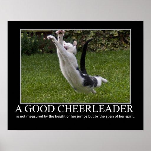Good Cheerleader Cat Artwork Posters