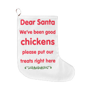 good chickens large christmas stocking