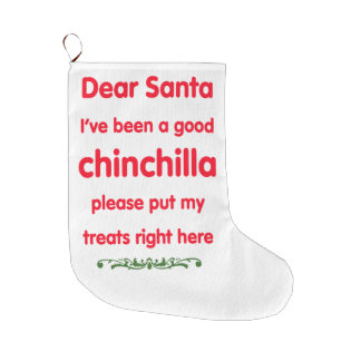 good chinchilla large christmas stocking