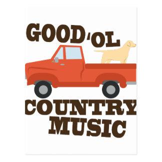 Good Country Music Postcard