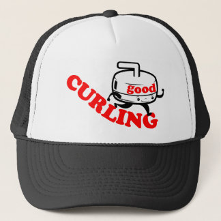 "[ GOOD CURLING ] Retro ""Stone Guy"" Gifts by SKO Trucker Hat"