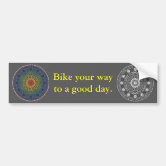 Good Day Bumper Sticker with Mandala 2