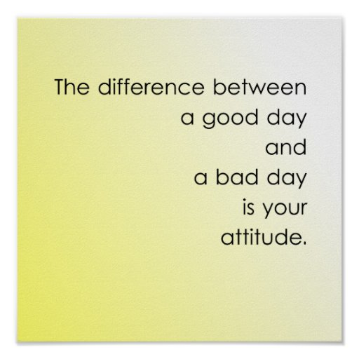 Good Day vs. Bad Day Poster