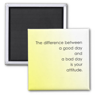 Good Day vs. Bad Day Square Magnet
