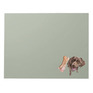 """""""GOOD DOG"""" Chocolate Lab Watercolor Painting Notepad"""