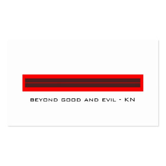 good evil BC Pack Of Standard Business Cards