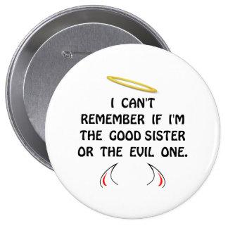 Good Evil Sister 10 Cm Round Badge