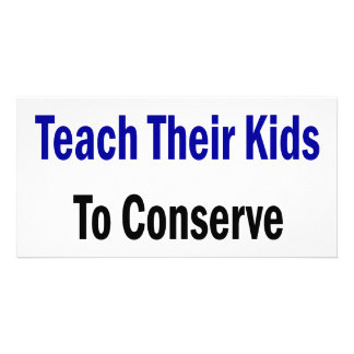 Good Fathers Teach Their Kids To Conserve Water Photo Card Template