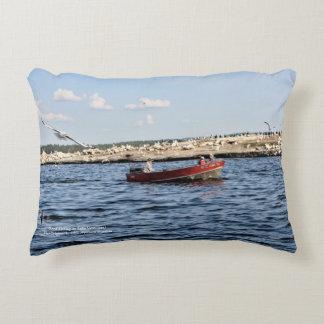 Good Fishing On Lake Vermilion horizontal throw Decorative Cushion