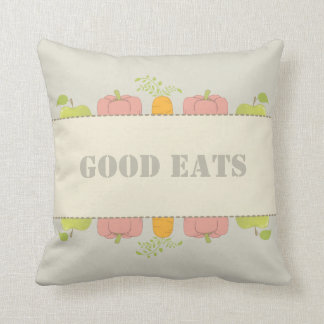 Good Food and Good Home Equals Good Eats Throw Pillow
