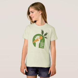 """""""Good Food for All"""" Girl Organic Tshirt"""