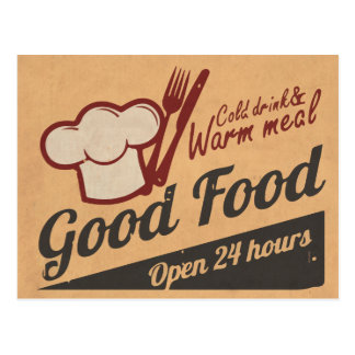Good Food Postcard