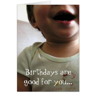 good for you. card